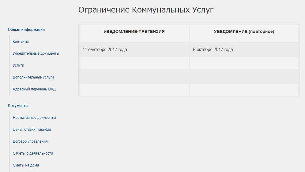 Сроки и график отключения ЖКХ
